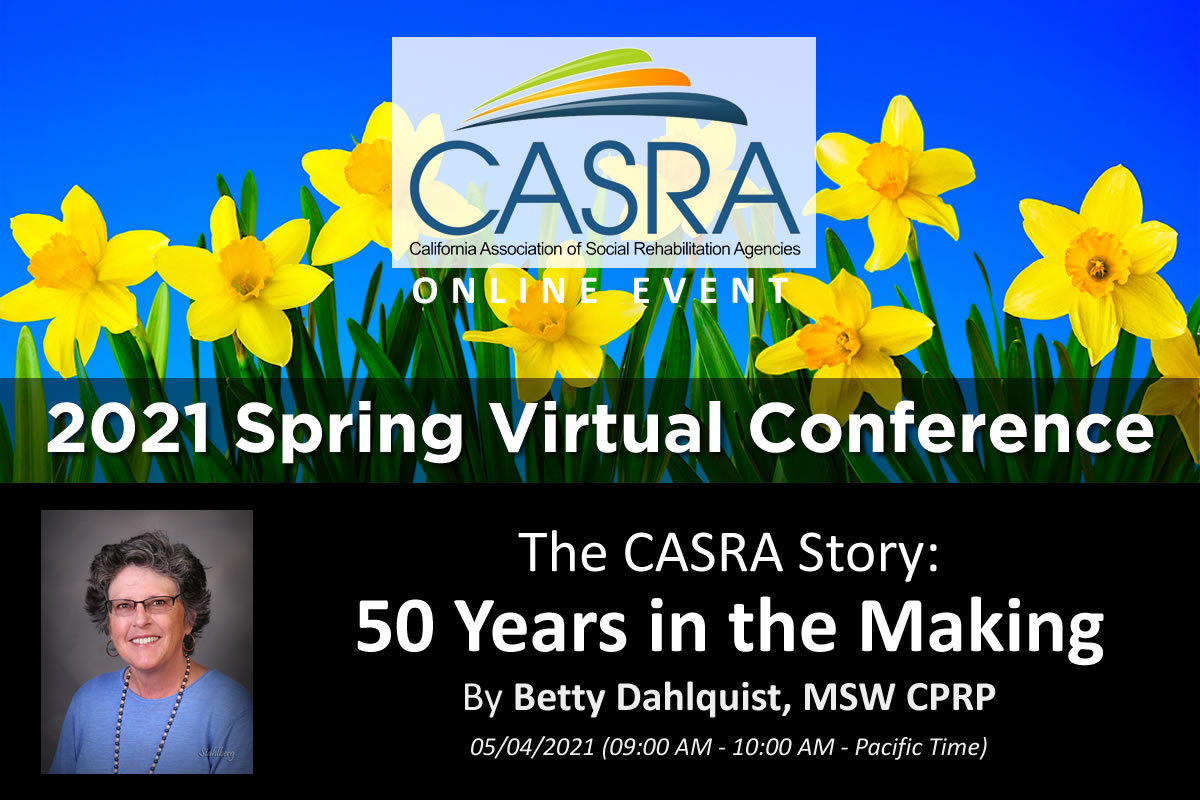 2021 Spring Virtual Conference - Betty Dahlquist, MSW CPRP (promotional video)